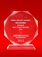 Capital Finance International – Nejlepší broker v Asii 2015