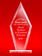 Der beste Broker Osteuropas 2012 laut ShowFx World