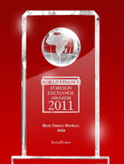 World Finance Awards 2011 – The Best Broker in Asia