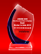 Der beste Broker Asiens 2013 laut The China International Online Trading Expo (CIOT expo))